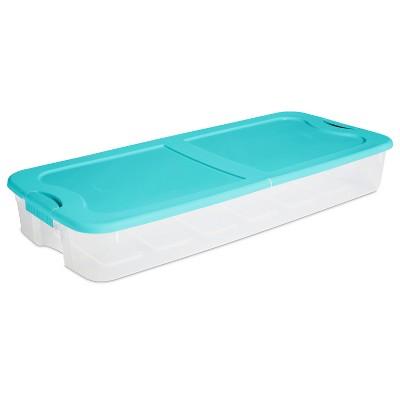 74qt Ultra Latch Box Clear/Blue - Sterilite