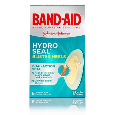 Band-Aid Brand Hydro Seal Adhesive Bandages for Heel Blisters - 6ct - image 1 of 4