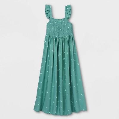 Girls' Smocked Woven Maxi Sleeveless Dress - Cat & Jack™