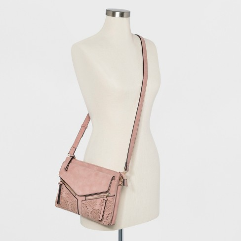 fe3030074b7b VR By Violet Ray Leanna Double Zip Laser Cut Crossbody Bag - Pale Purple    Target