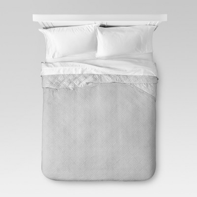 Gray Linen Quilt (Full/Queen)- Threshold™