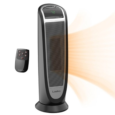 Lasko CT22766 1500W Ceramic Tower Indoor Heater Black