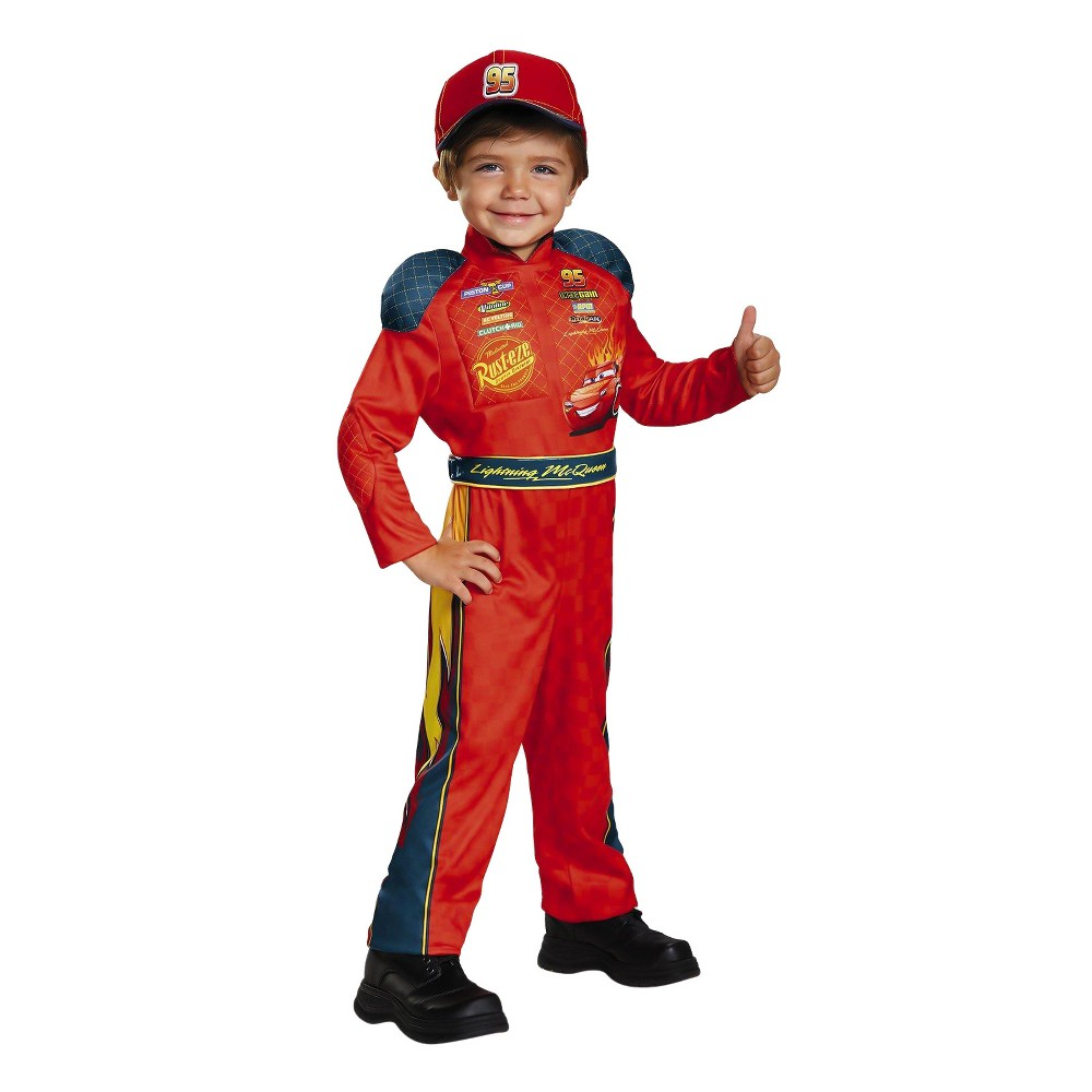 Kids' Cars 3 - Lightning Mcqueen Classic Toddler Costume 3T-4T, Toddler Boy's, Multicolored