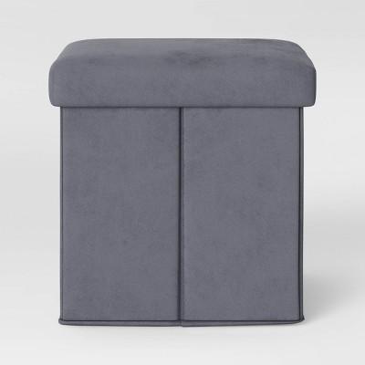 Foldable Storage Ottoman Gray - Room Essentials™