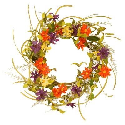 "Garden Accents Floral Daisy Wreath (22"")"