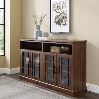 """4 Door Transitional Elegant WindowpaneTV Stand For TVs Up To 65"""" - Saracina Home : Target"""