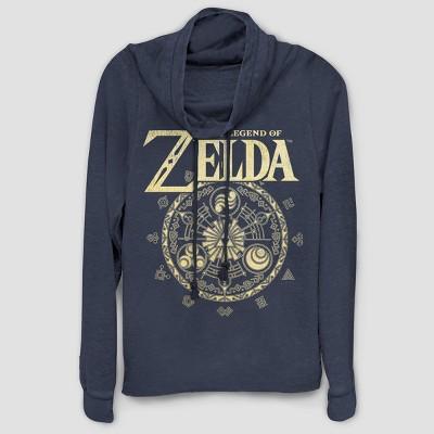 Women's Nintendo Zelda Circle Graphic Sweatshirt - Navy