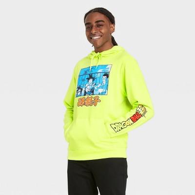 Men's Dragon Ball Z Hooded Sweatshirt - Neon Yellow