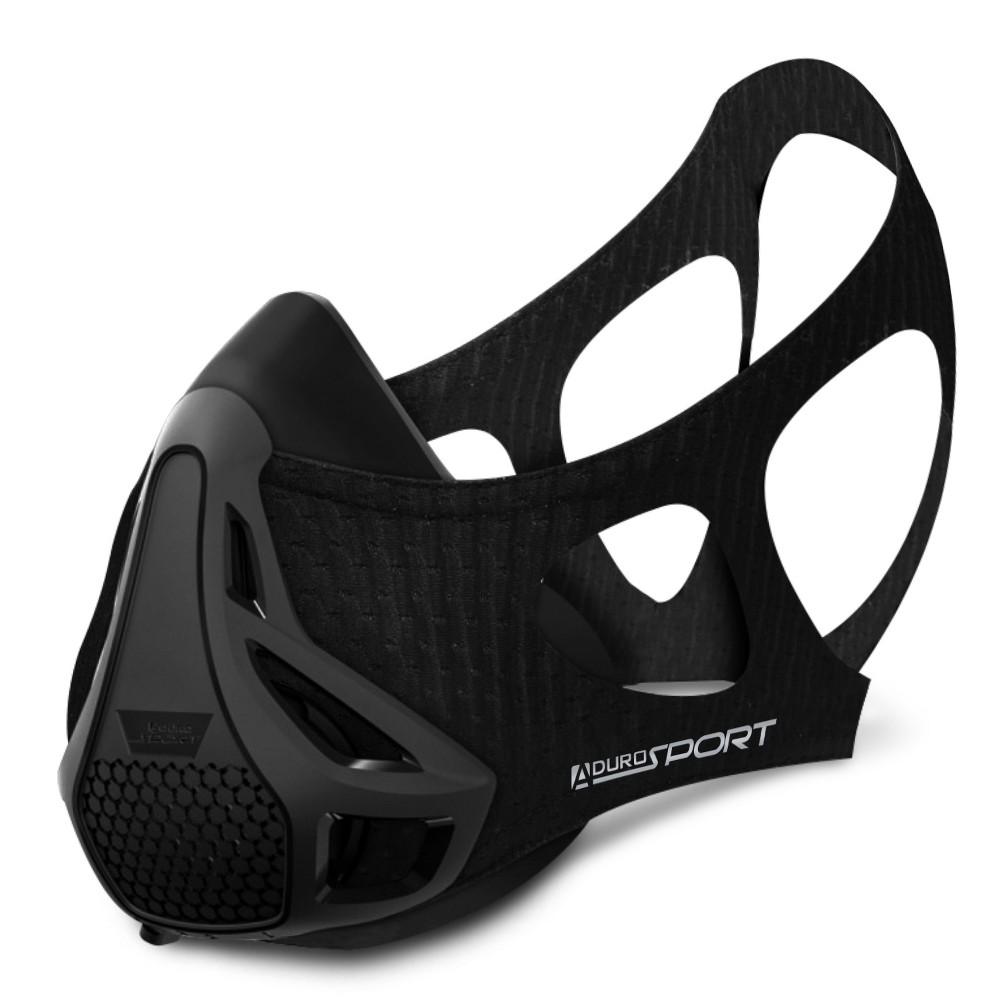 Image of Aduro Sport Peak Resistance Workout Training Mask - Black