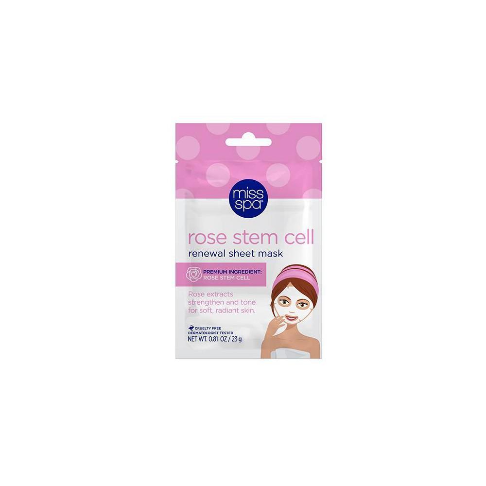 Miss Spa Rose Stem Cell Renewal Sheet Mask 0 81oz