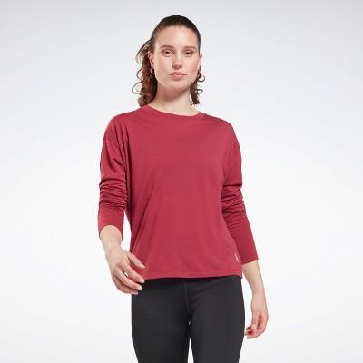 Reebok Workout Ready Supremium Long Sleeve T-Shirt Womens Athletic T-Shirts