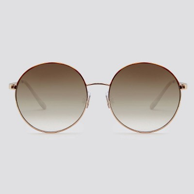 Women's Round Metal Silhouette Sunglasses - Wild Fable™ Gold