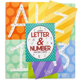 Juvale 36-Count Jumbo Dry Erase Alphabet ABC & Number Tracing Flash Cards, Double Sided, Great Toddler Kids Educational Toys Learn Writing & Counting : Target