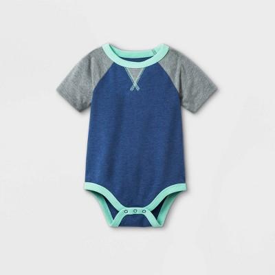 Baby Boys' Short Sleeve Bodysuit with Dorito - Cat & Jack™ Dusty Blue