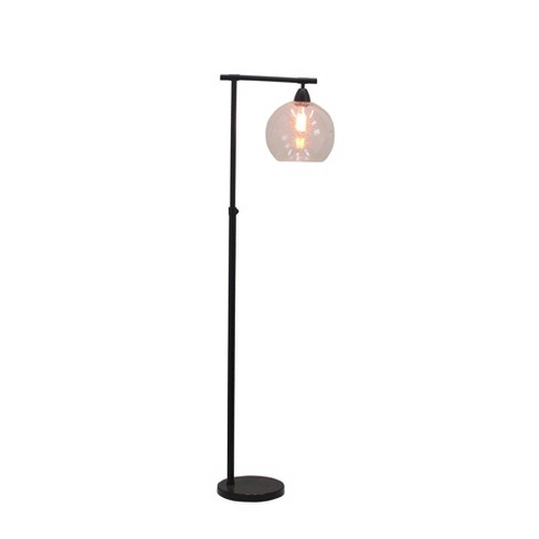 Stationary Down Bridge Floor Lamp Black (Includes CFL Light Bulb) - Fangio Lighting - image 1 of 2