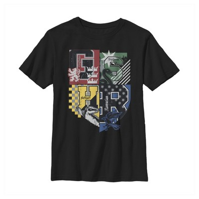 Boy's Harry Potter House Crests Shield T-Shirt