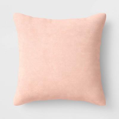 Square Velvet Pillow Blush - Room Essentials™
