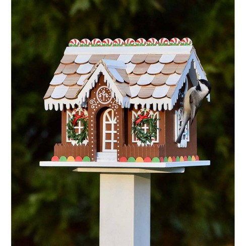 - Gingerbread Cottage Outdoor Holiday Birdhouse - Plow & Hearth : Target