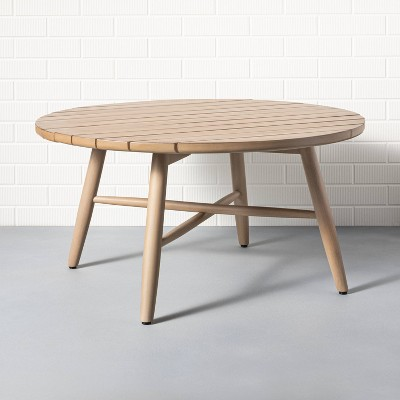 Outdoor Round Wood Coffee Table Natural - Hearth & Hand™ with Magnolia
