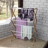 Household Essentials Bamboo Dryer Rack - image 2 of 4