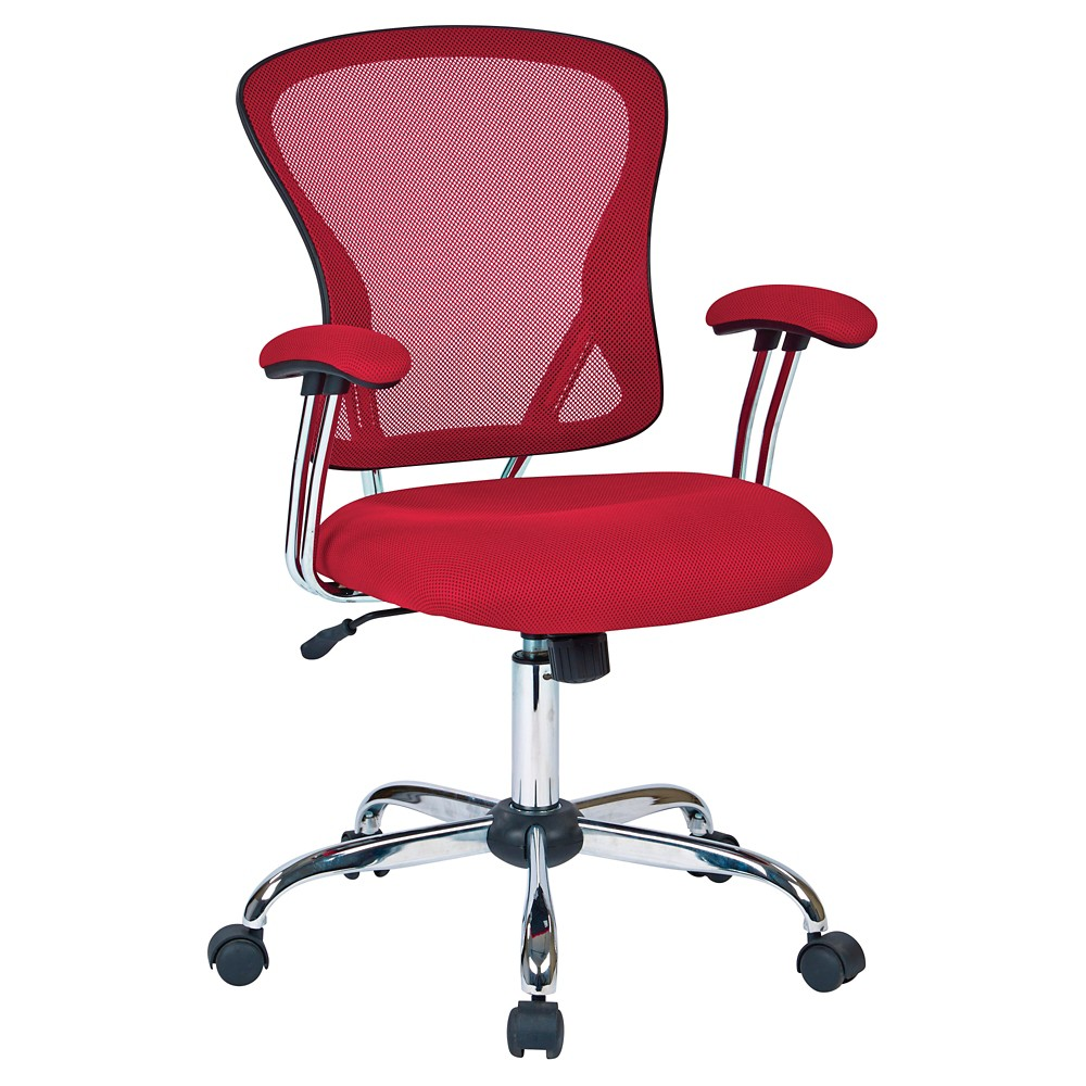 Image of Ave Six Juliana Task Chair Red Mesh - Office Star