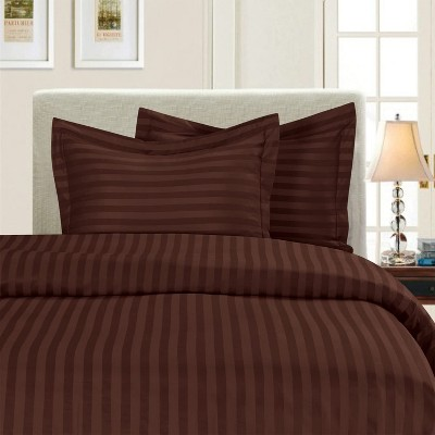Elegant Comfort Luxurious Ultra Soft Wrinkle and Fade Resistant 3-Piece Dobby Stripe Duvet Cover Set with Shams.