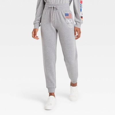 Women's USA Graphic Jogger Pants - Gray