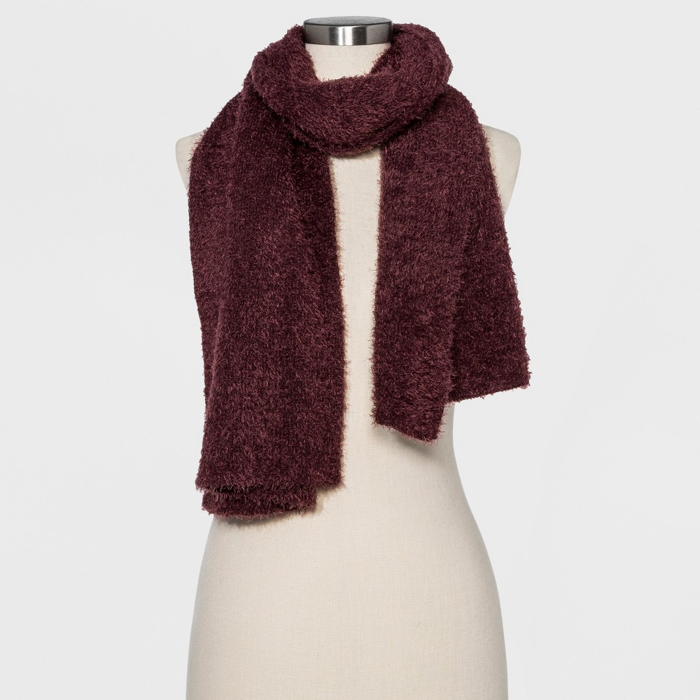 Women's Fuzzy Wuzzy Scarf - Wild Fable Burgundy (Red)