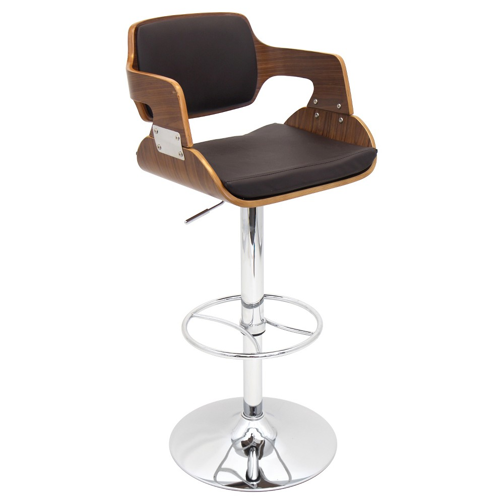 Fiore 32 Barstool Metal/Walnut/Brown - LumiSource