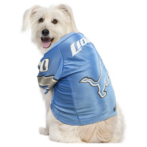Detroit Lions Little Earth Pet Premium Football Jersey - Blue S   Target abf34effd