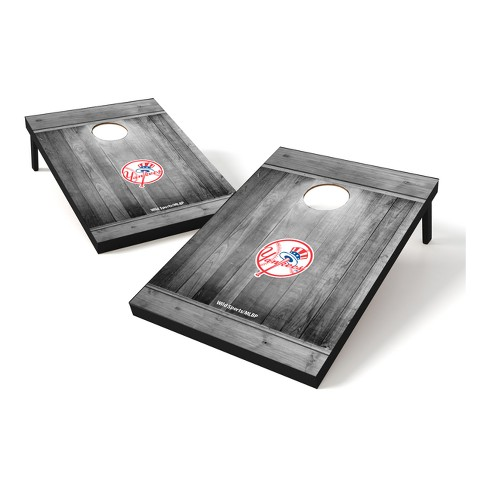 MLB Wild Sports 2x3 Rustic Wooden Plaque Gray Wash Tailgate Toss - image 1 of 1