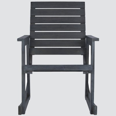 Geneva Wood Patio Rocking Chair - Gray - Safavieh