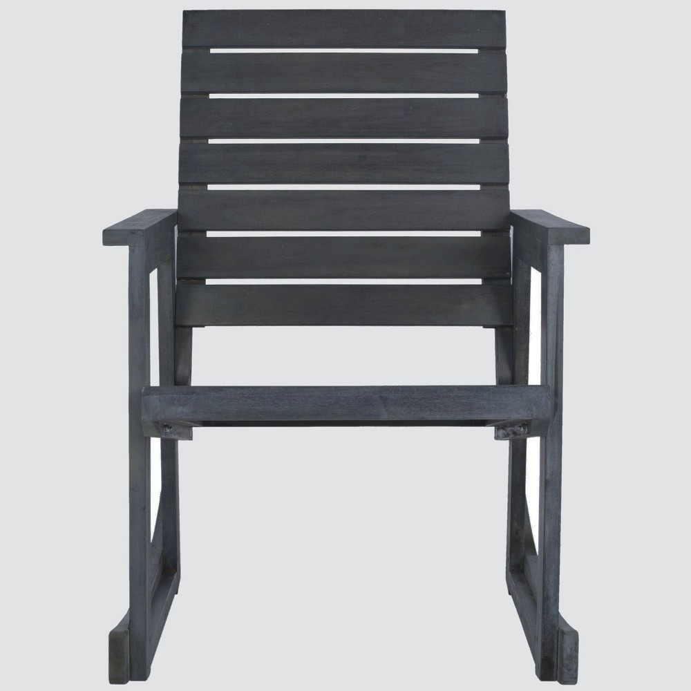Geneva Wood Patio Rocking Chair Gray Safavieh