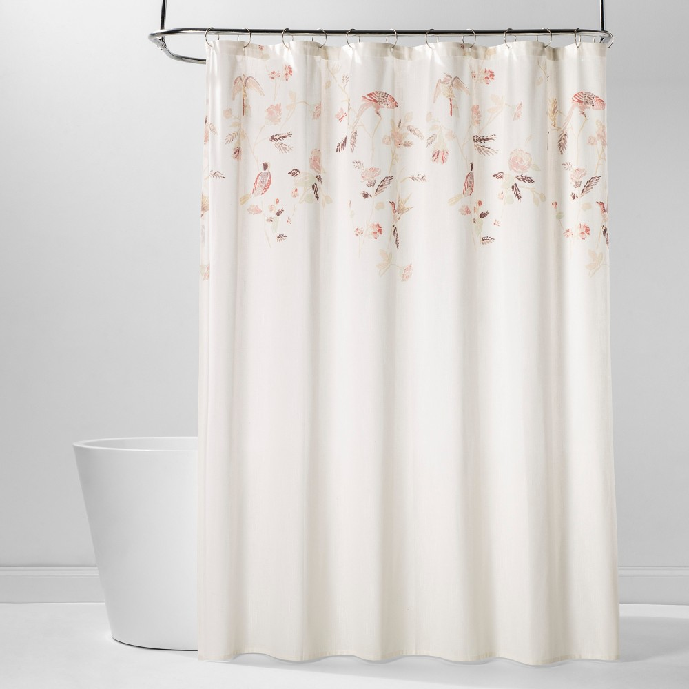 Best Shopping Engineered Floral Shower Curtain Shadow Rose Threshold