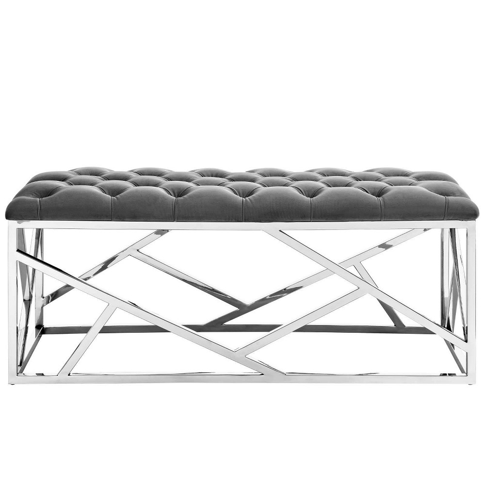 Intersperse Bench Gray - Modway
