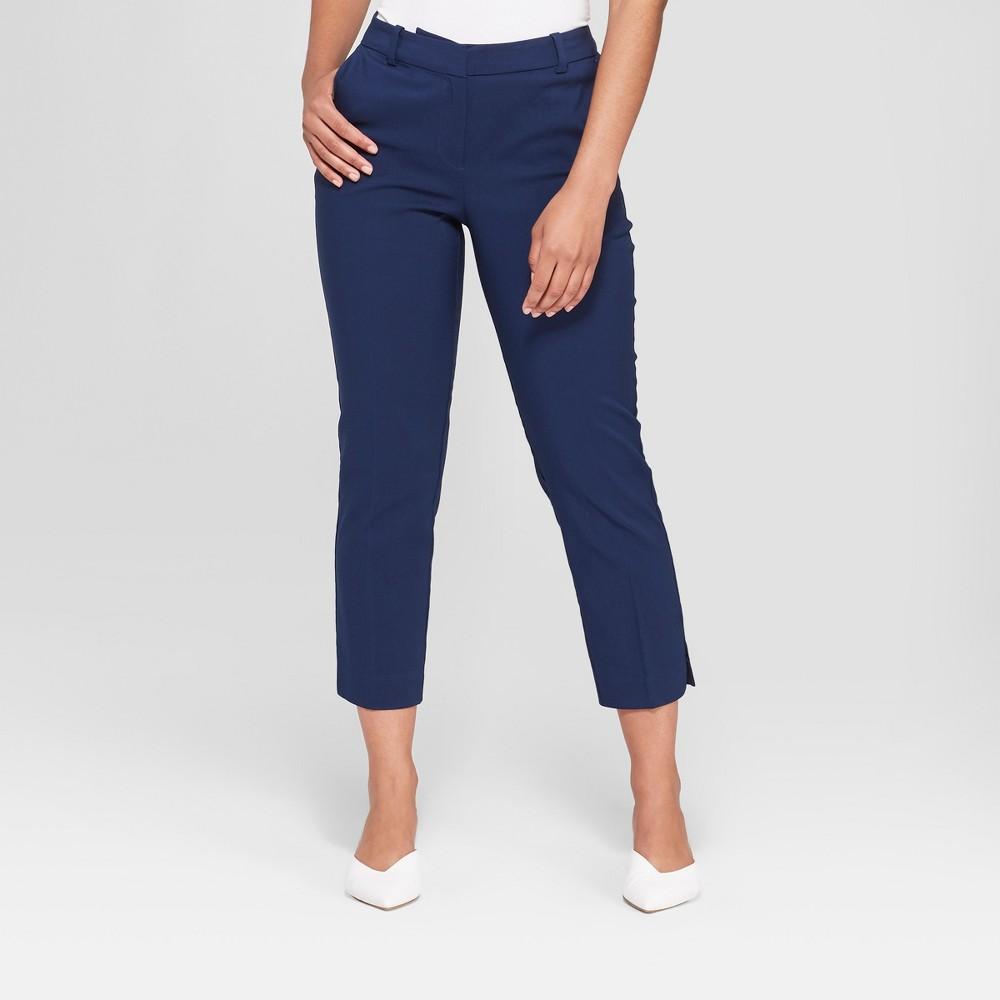 Women's Straight Leg Ankle Length Trouser - Prologue Navy (Blue) 18