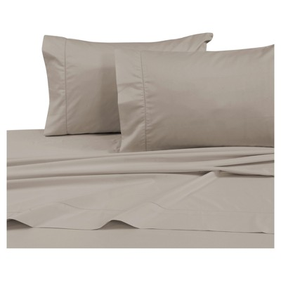 Cotton Sateen Deep Pocket Sheet Set (Queen) Taupe 750 Thread Count - Tribeca Living