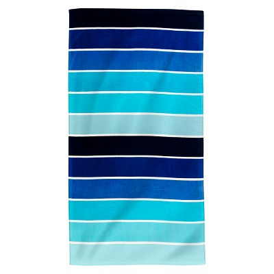 Printed Cool Rugby Beach Towel Blue - Evergreen®