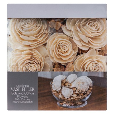 Sola and Cotton Flower Vase Filler Brown/White 8.64oz - Lloyd & Hannah
