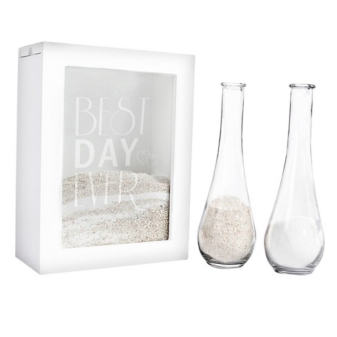Best Day Ever White Unity Sand Ceremony Shadow Box Set Target