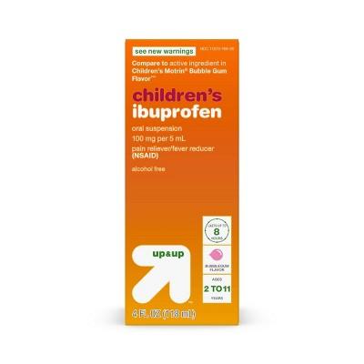 Children's Ibuprofen (NSAID)Oral Suspension Pain Reliever & Fever Reducer Liquid - Bubblegum - 4 fl oz - Up&Up™