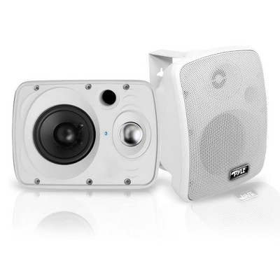 Pyle PDWR64BTW 6.5 Inch 800 Watt Waterproof Stereo Speaker System for Indoor or Outdoor Theater Bluetooth Surround Sound System, White (2 Pack)