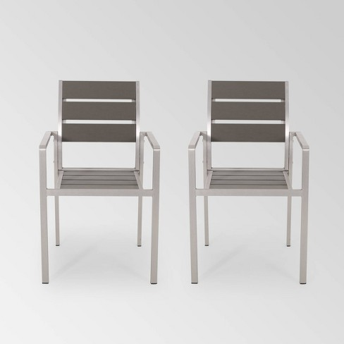 Cape Coral 2pk Aluminum Dining Chair - Christopher Knight Home - image 1 of 4