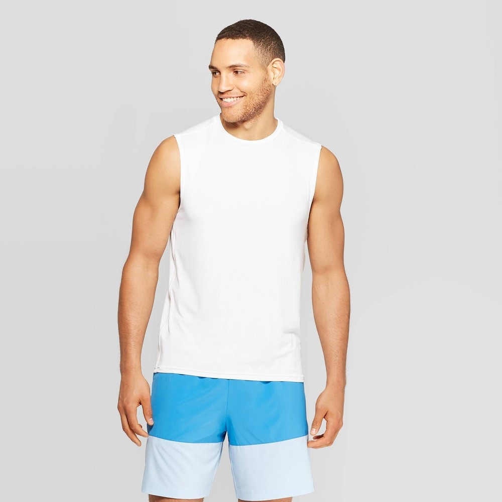 5af3d0dde009 Mens Sleeveless Tech T Shirt C9 Champion White M