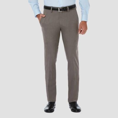 Haggar Men's Cool 18 PRO Slim Fit Flat Front Casual Pants