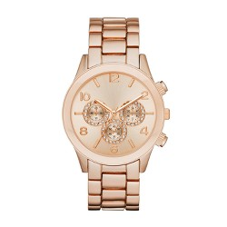 Women's Glitz Dial Bracelet Watch - A New Day™ Rose Gold