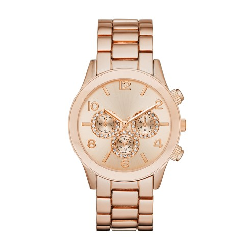 Women's Glitz Dial Bracelet Watch - A New Day™ Rose Gold - image 1 of 1