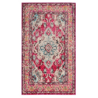 2'x4 Medallion Loomed Accent Rug Pink - Safavieh