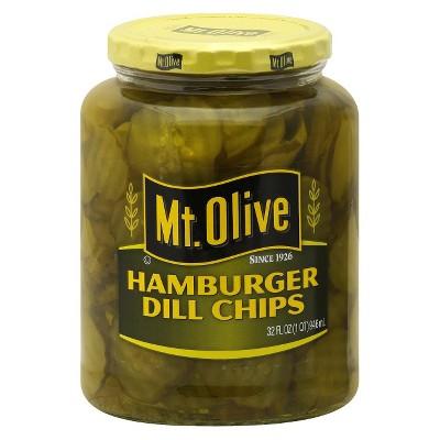 Mt. Olive Hamburger Dill Chips - 32oz