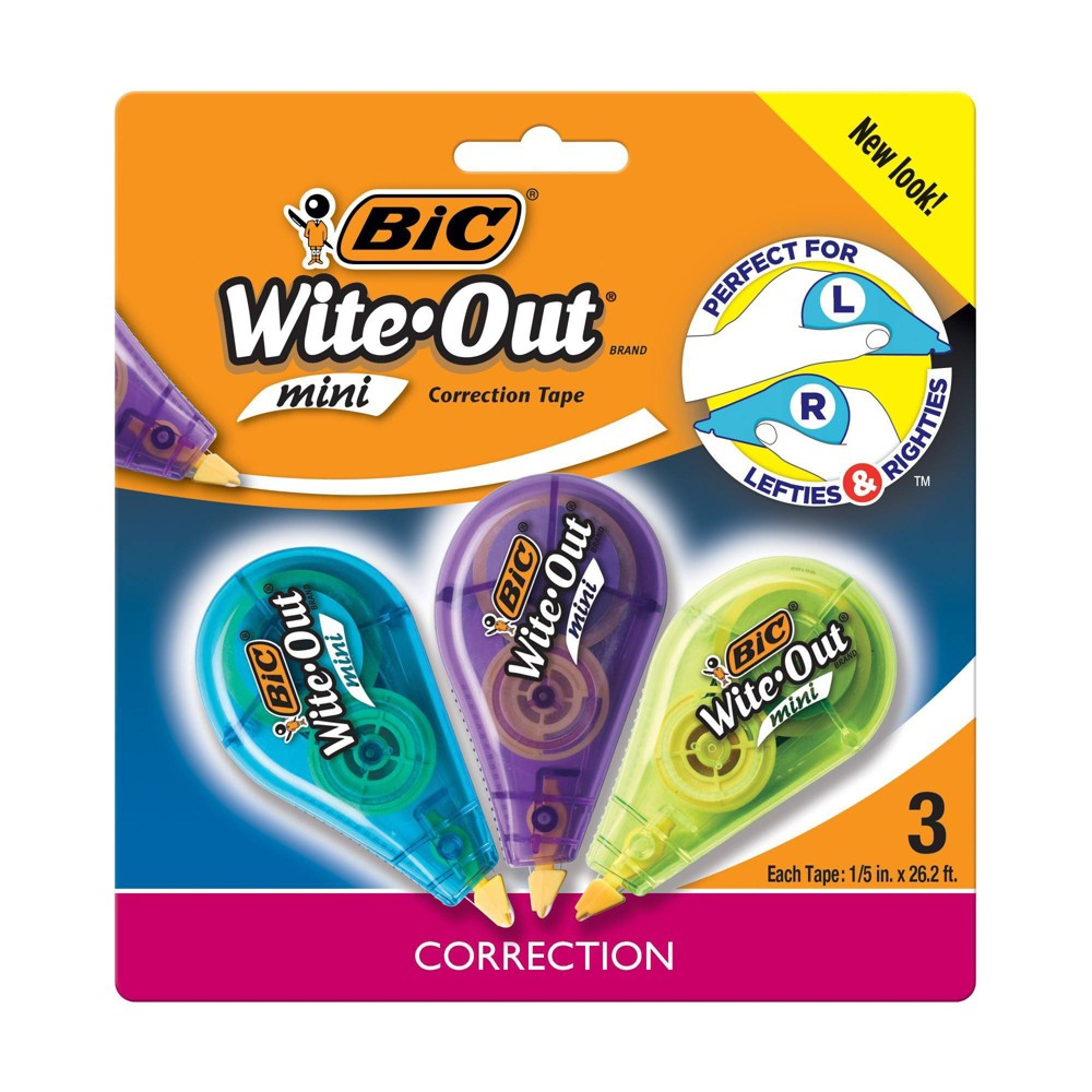 Image of 3pk Wite-Out Correction Tape Mini White - BIC